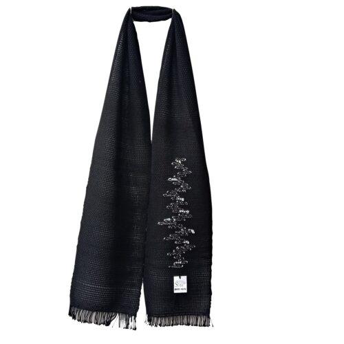 Tkan črn šal