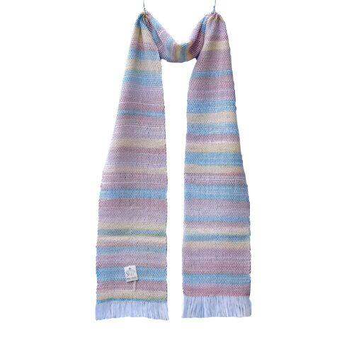 Ročno tkan večbarvni svetel šal