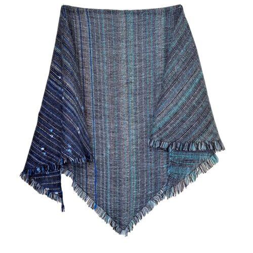 Ročno tkana ruta s svilo
